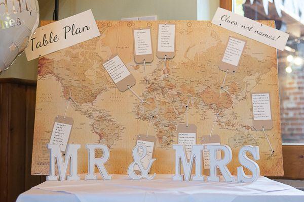 Wedding Map Luggage Tag Table Plan http://www.fullerphotographyweddings.co.uk/