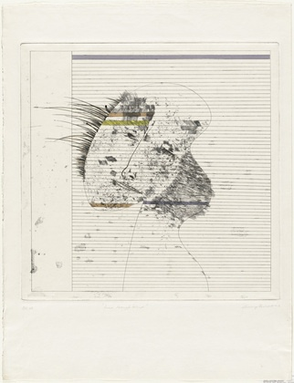 MoMA | The Collection | George Baldessin. Head Through Blind. 1967