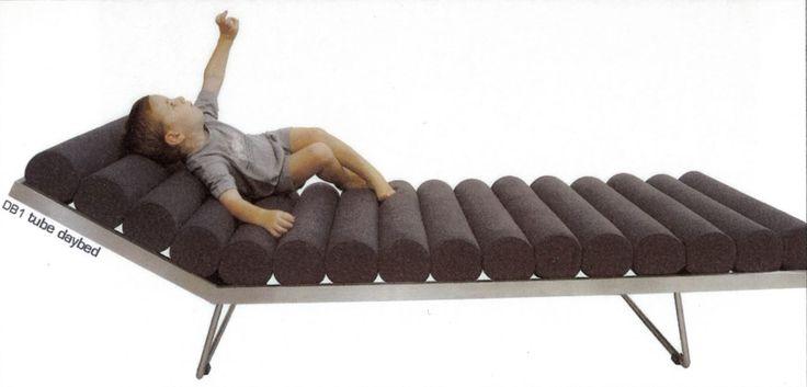 Tube daybed, design by Melanie Hall. #melaniehall #melaniehalldesign #daybed #furniture #design