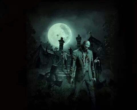 Zoombie Walk At Moonlight Zombie Wallpaper Zombie Background Scary Halloween Images