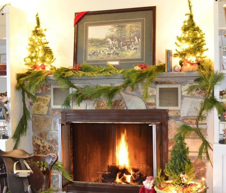 Beautiful Ideas For Christmas Fireplaces Decor & 10 best Beautiful Ideas For Christmas Fireplaces Decor images on ...