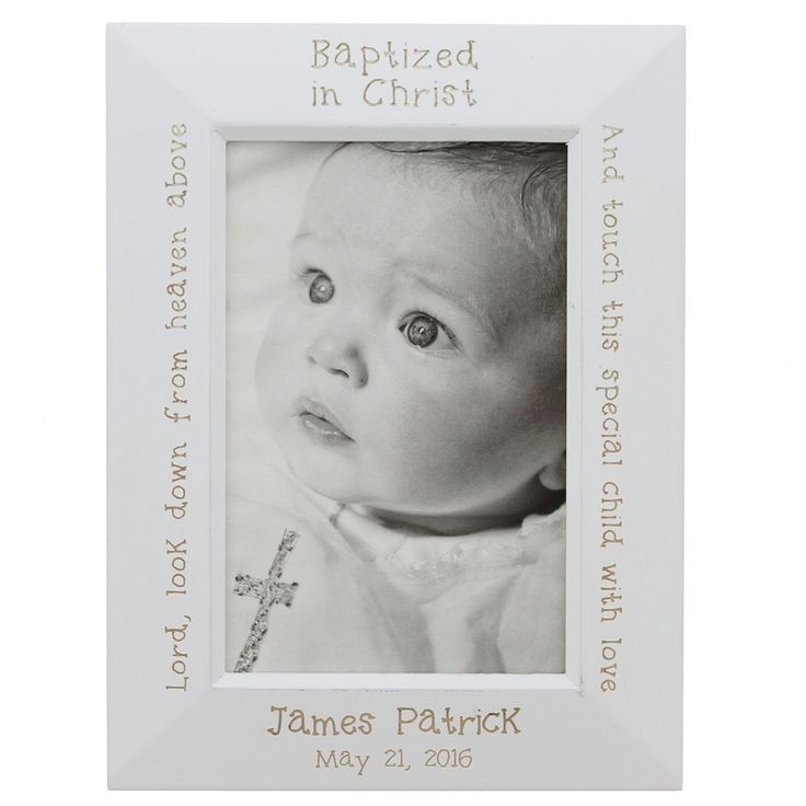 300 best baby baptism images on pinterest gift tags baby personalized white wood baptism frame gifts for godparentsgodchild giftbaby negle Images