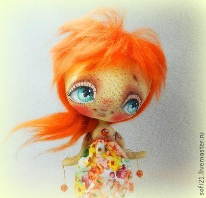 Теплышко:) - рыжий,кукла,интерьерная кукла,авторская кукла,текстильная кукла