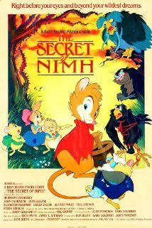 The Secret of NIMH (1982) starring Elizabeth Hartman, Derek Jacobi, Dom DeLuise and directed by Don Bluth.