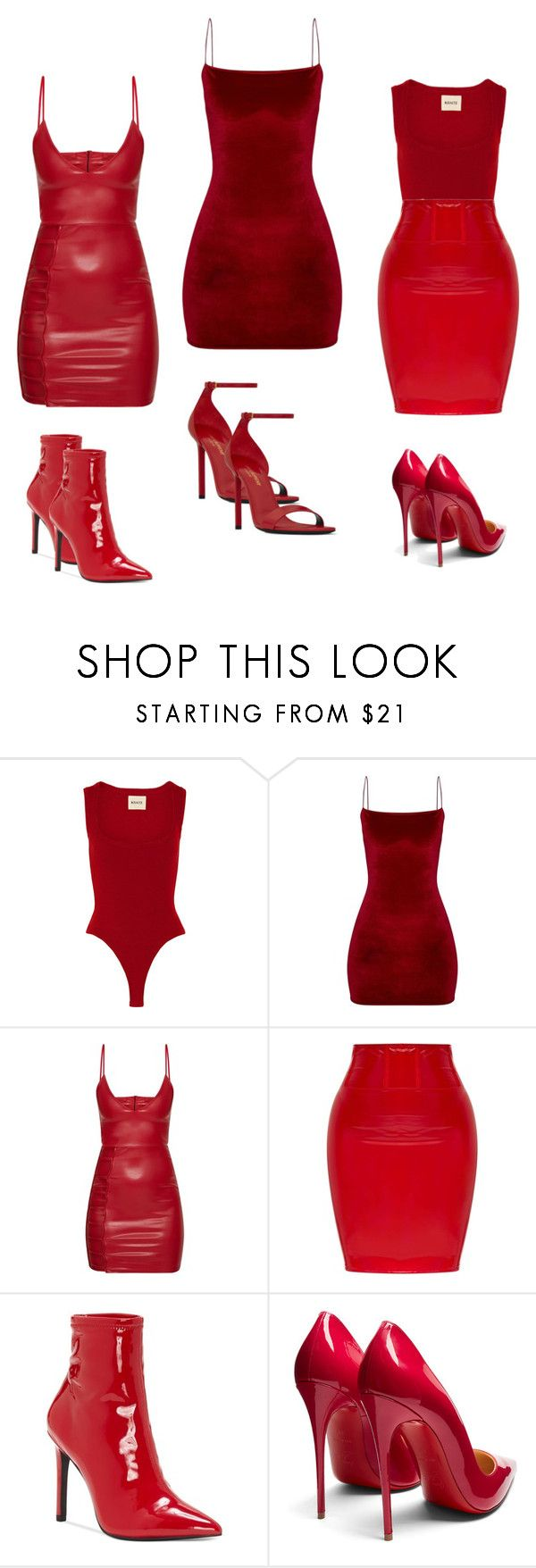 """""""VALENTINE"""" by zivapersonalshopping on Polyvore featuring Khaite, Jessica Simpson, Christian Louboutin and Yves Saint Laurent"""