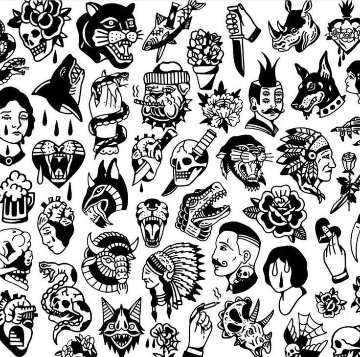 Tattoo Flash   – Engleberta