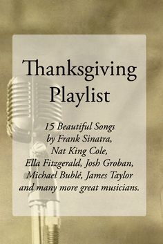 Thanksgiving Playlist. Lighting, scents and music add so much ambiance to a home.