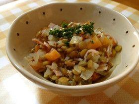 ✿☆圧力鍋ですぐにできる♪レンズ豆サラダ