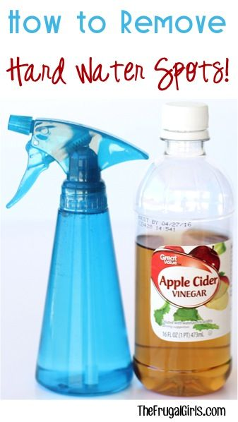 Use apple cider vinegar to remove hard water spots. Makes a great non-toxic cleaner around your home.