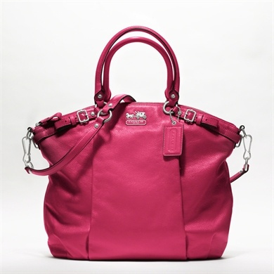 i wouldn't want it in pink but i like the design!: Coach Pur, Coachmadison, Coach Handbags, Coach Bags, Color, Leather Lindsey, Coach Madison, Lindsey Satchel, Madison Leather
