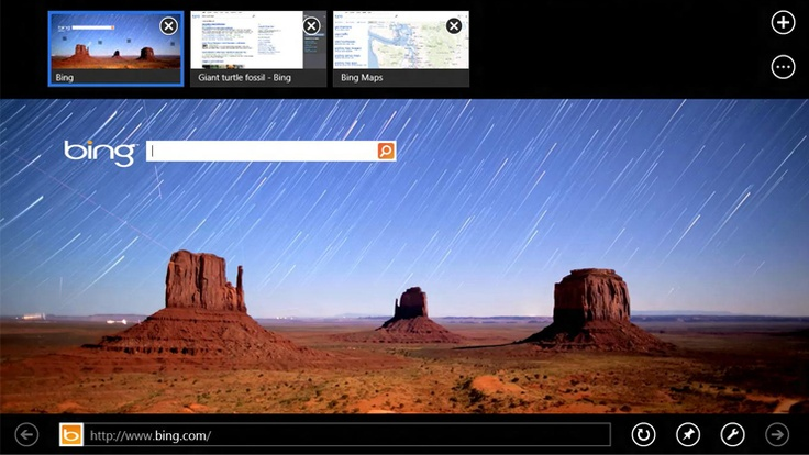 """Get started with InternetExplorer10 - """"With InternetExplorer10 you might notice something different about the web—it's bigger, bolder, and optimized for touch. Tabs, buttons, and toolbars are now easily accessible when you need them, but quietly get out of the way when you don't. By learning a few simple actions, you'll be able to comfortably use your new browser."""" - from Windows.Microsoft.com"""