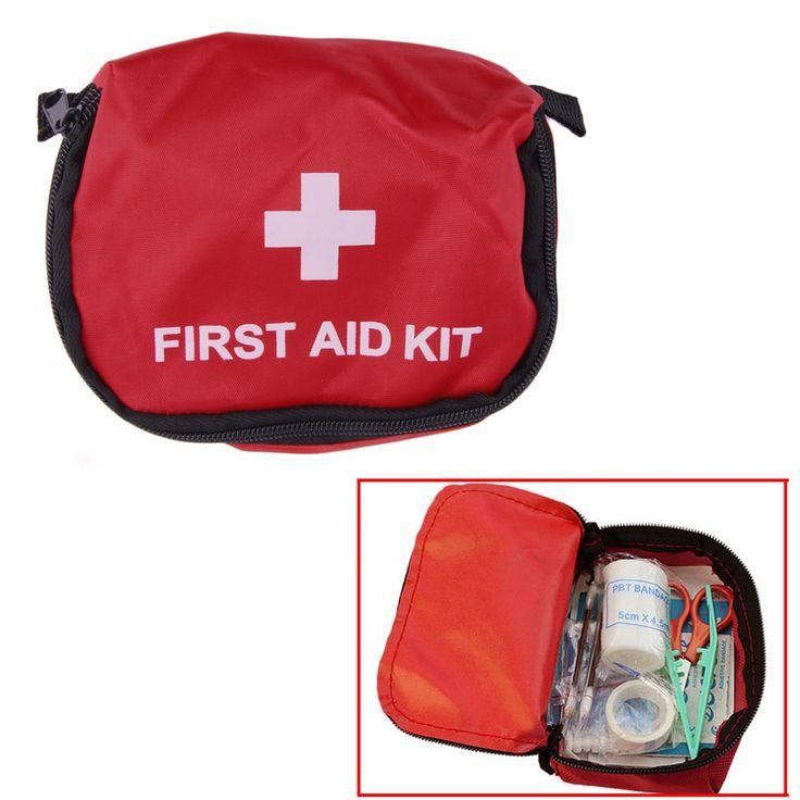 Kit di Pronto Soccorso 0.7L Rosso Sacchetto di Campeggio Di Sopravvivenza Di Emergenza Fasciatura Droga Impermeabile spedizione gratuita