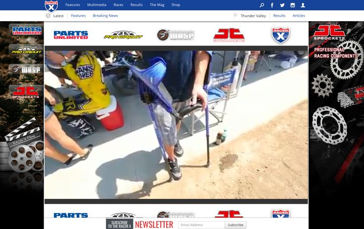 Dirt Bike racer Gareth Swanepoel talks about using smartCRUTCH during his recovery from an ankle break and surgery at a race.