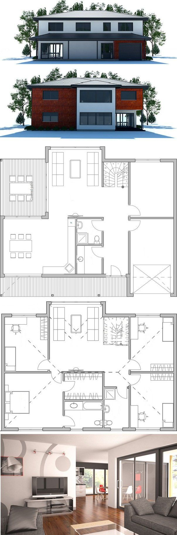 Modern House Plan from ConceptHomecom 366 best