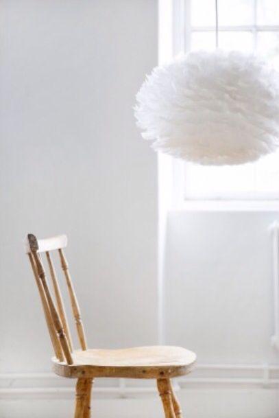Eos fjäderlampa pendel S, vit