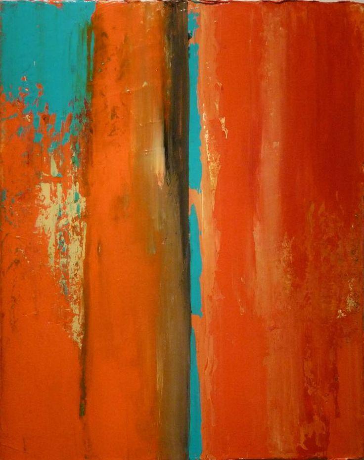 """Saatchi Art Artist Robert Lynn; Painting, """"Abstract Orange Scene"""" #art"""