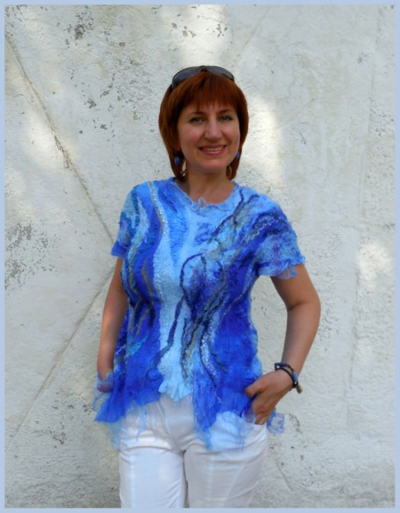 Gallery.ru / Фото #16 - Блузка Средиземноморье. - agidel-irina