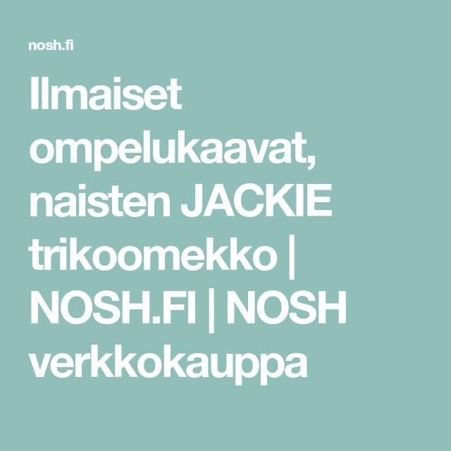 Ilmaiset ompelukaavat, naisten JACKIE trikoomekko   NOSH.FI   NOSH verkkokauppa