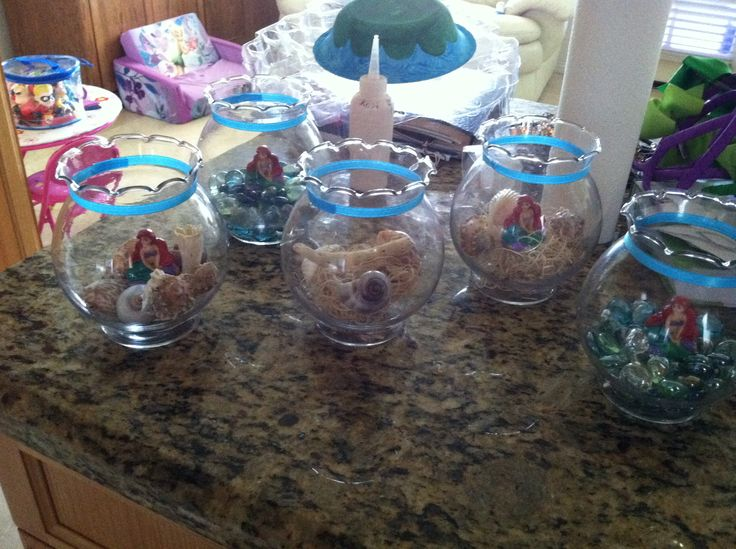 Little mermaid centerpieces my kid 39 s parties pinterest for Ariel decoration