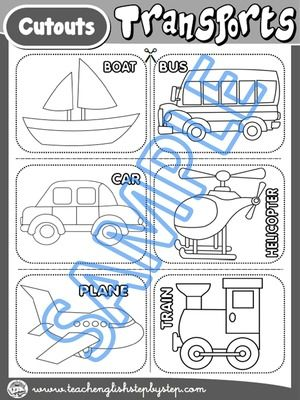 Matching Worksheet 1 - Cutouts (B&W version)