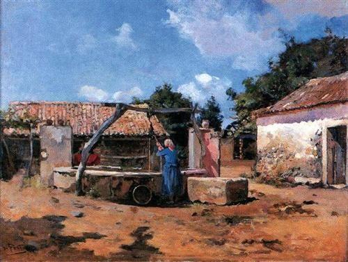 Na Cisterna - António de Carvalho da Silva Porto