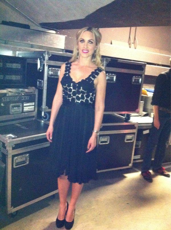 Kathryn Thomas backstage   JOANNE HYNES