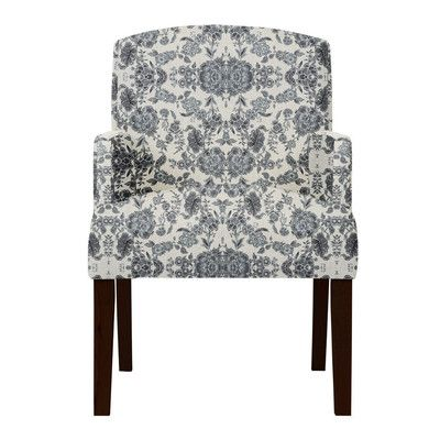 Darby Home Co Keisha Gray Cotton Arm Chair