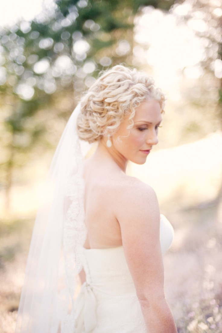 lovely curly haired bride