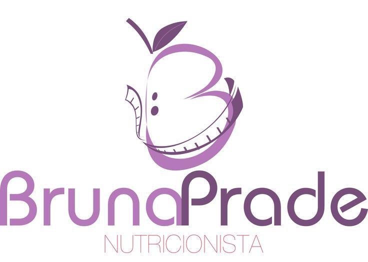 Logo criada para a nutricionista Bruna Prade.
