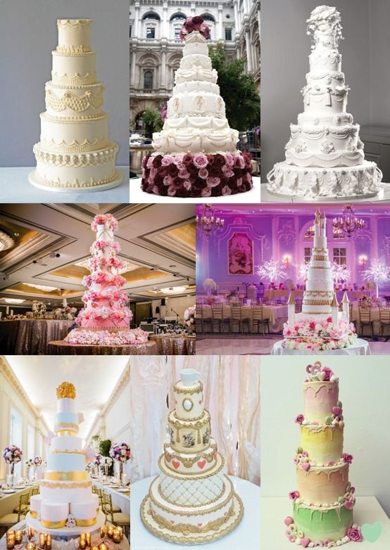 Luxury #Wedding #Cakes for 2017 Mood Board from The Wedding Community
