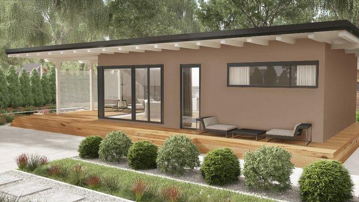Mejores 45 im genes de casas de tejado plano donacasa en for Tejados de madera casas