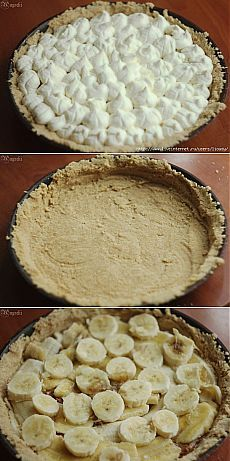 Баноффи пай - необычный банановый пирог. Простой пошаговый рецепт с фото.