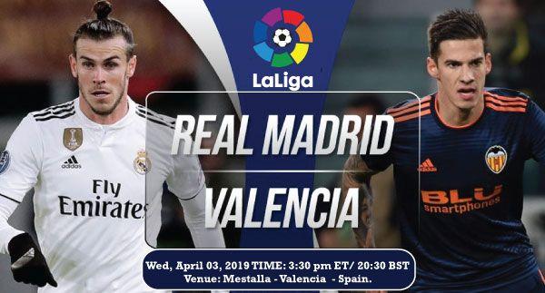 Real Madrid Vs Valencia Real Madrid Real Madrid Tv Live Football Match
