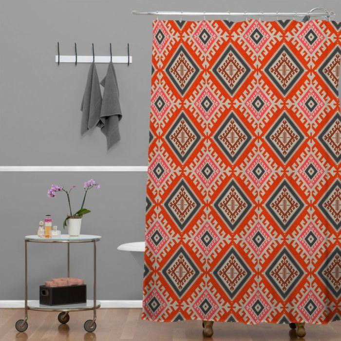 farbgestaltung tangerine trandfarbe muster schlafzimmer ideen bluete