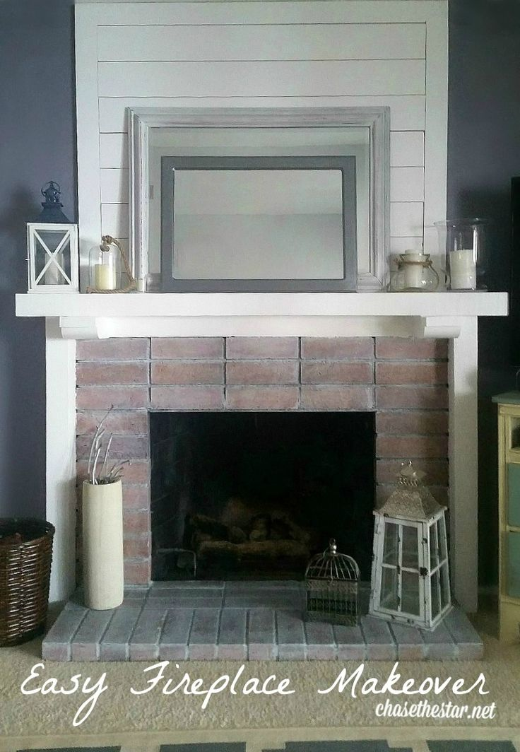 Easy Fireplace Makeover Inexpensive And Fast Www