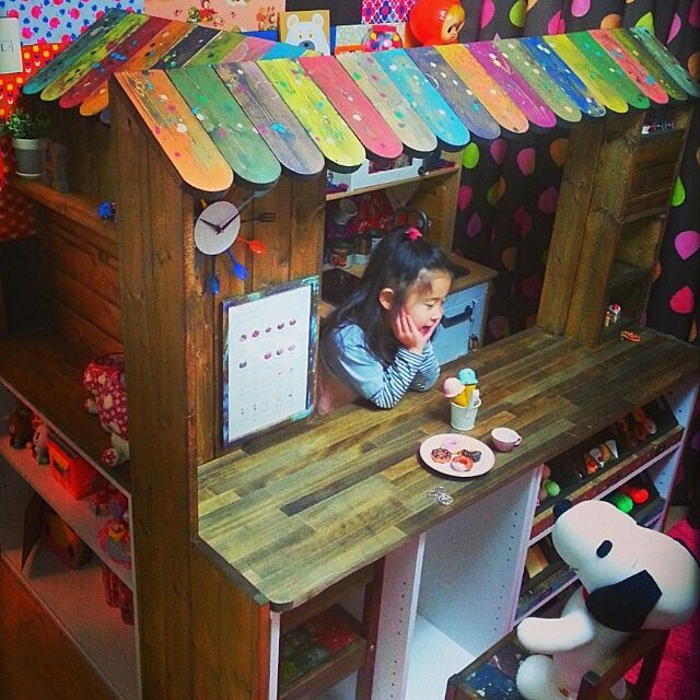 My Shelf/子供部屋/DIY/カラーボックス DIYのインテリア実例 - 2015-01-11 04:49:57