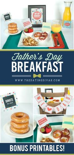 Printables for a fun Father's Day Breakfast from The Dating Divas. If you then follow @CutePhoneCases, then you will see more diy Party ideas for Father's Day
