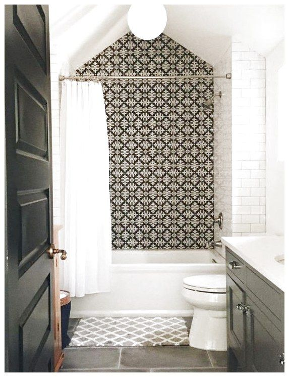 Bathroom Design Ideas Tile Cement Subway Black And White Flooringmakeover Floor Floormakeover See More