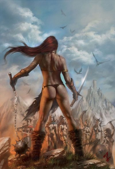 Lucio Parrillo - Red Sonja: Vulture's Circle 2 cover painting