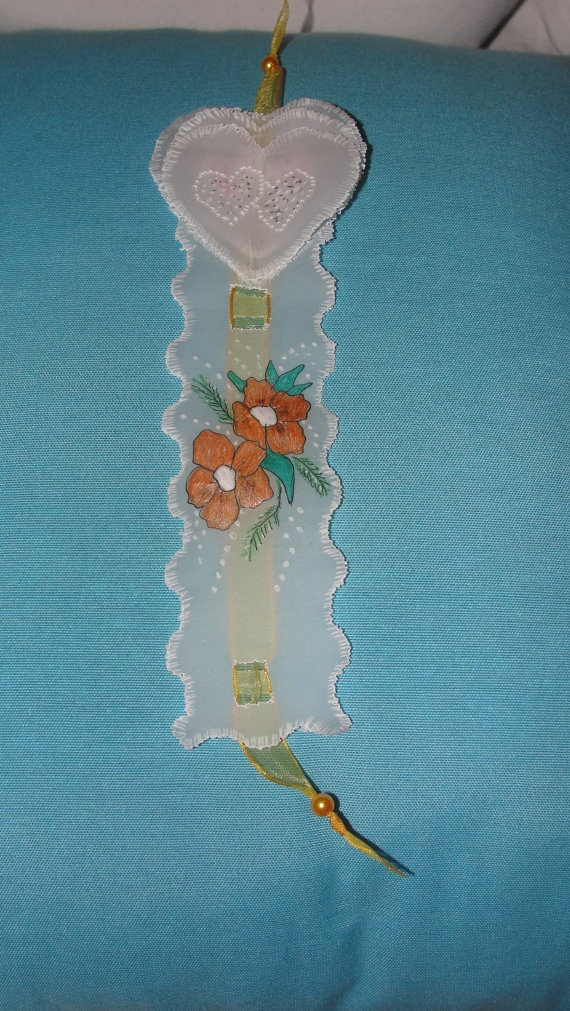 Handmade Bookmark.  Made using tracing paper. Handpainted.