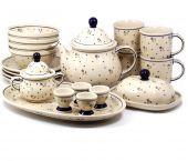 Zestaw śniadaniowy - ceramika bolesławiecka