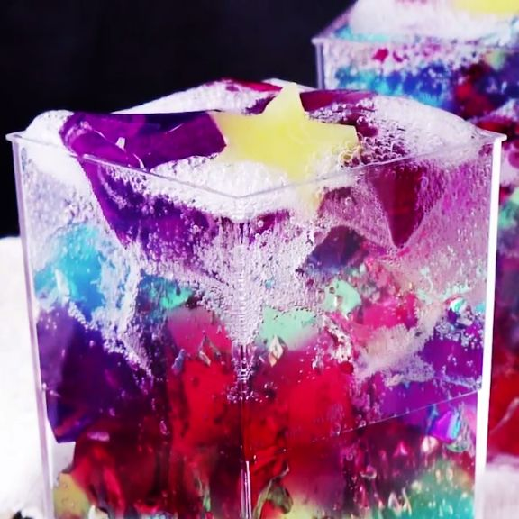 Turn normal Jello into a fizzy rainbow of fruity deliciousness.