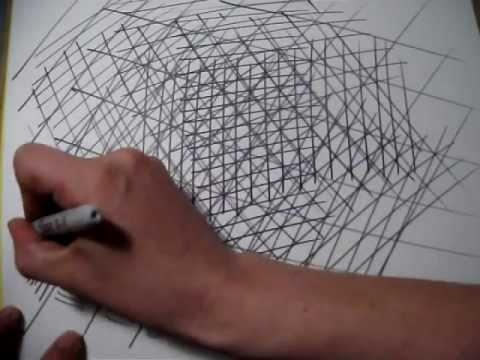 Drawing Lessons - Practicing Straight Lines - Cross Hatching Technique