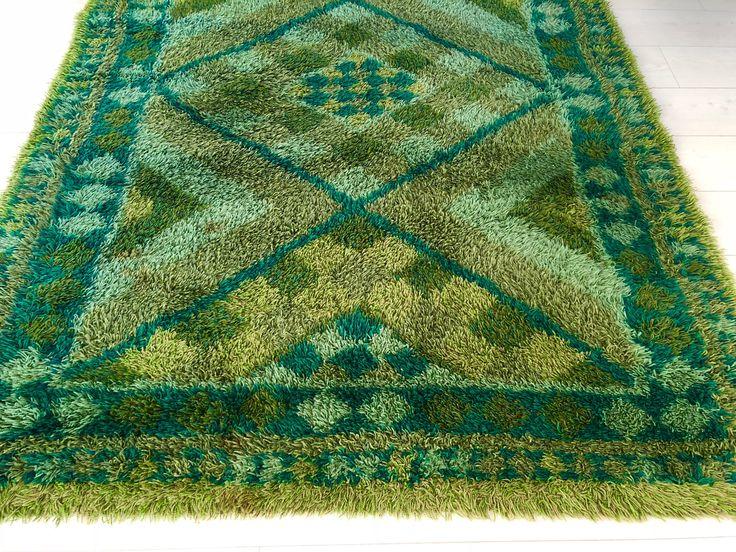 A personal favorite from my Etsy shop https://www.etsy.com/se-en/listing/573854130/modernist-wool-rya-rug-vintage-crafts