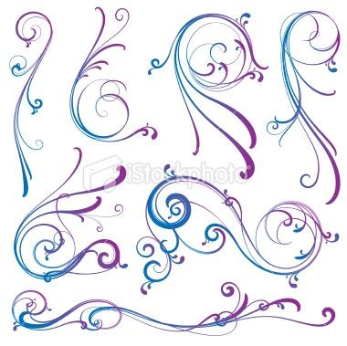 swirls Royalty Free Stock Vector Art Illustration