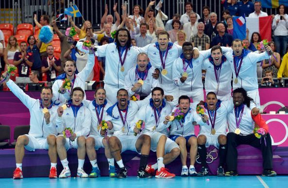Victory of the french team of handball at the Olympics Games of London in 2012