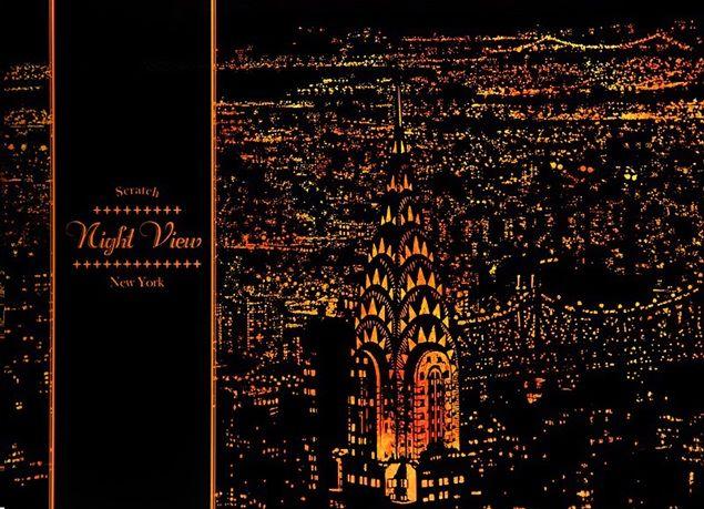 inspiracje w moim mieszkaniu: Zdrapka z nocnym widokiem na miasto / Scratch with...