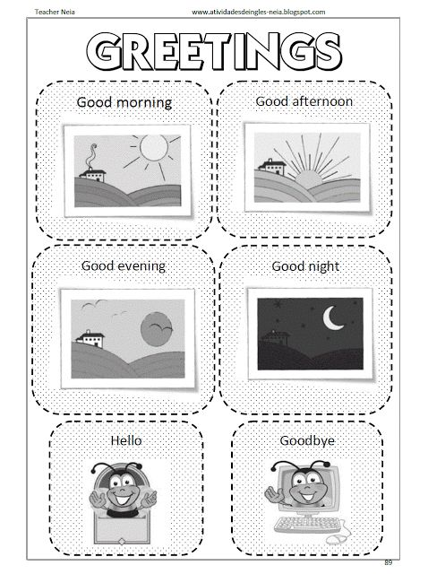 EDUCACRER: Atividades de Inglês (Greetings)