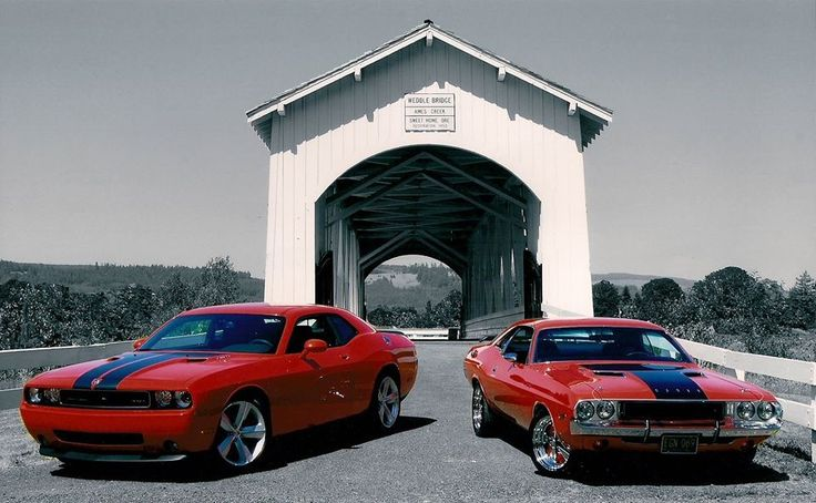 Dodge Challenger Then And Now Both Amazing Purrrrrr Vroom