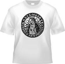 T-shirt Santa Muerte festival Mexico folk religion white 100% cotton size large